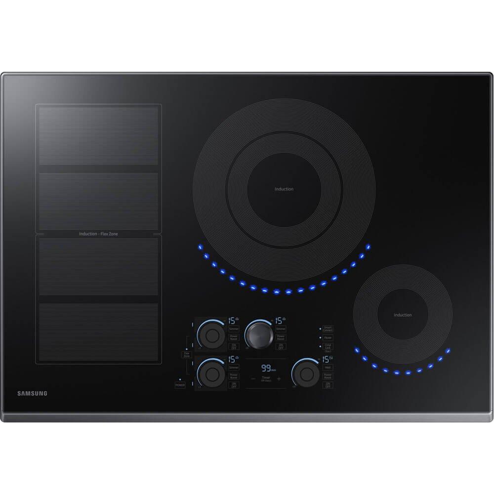 "Samsung 30"" Black Stainless Steel Induction Cooktop NZ30K7880UG"