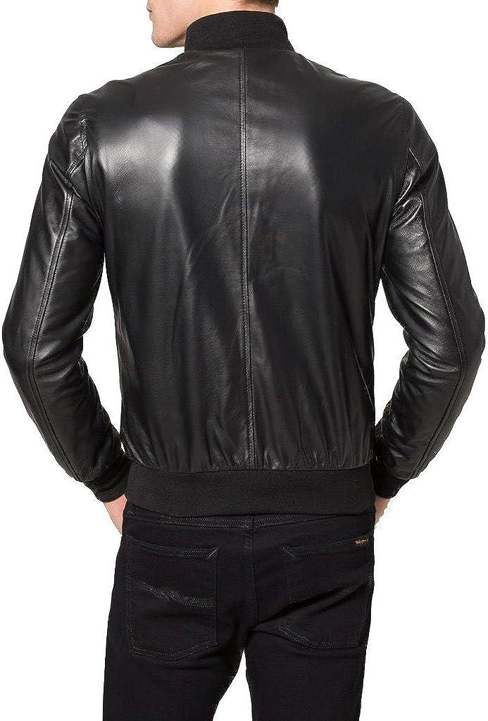 Mens Genuine Cow Leather Jacket Slim Fit Biker Motorcycle Jacket LTC295