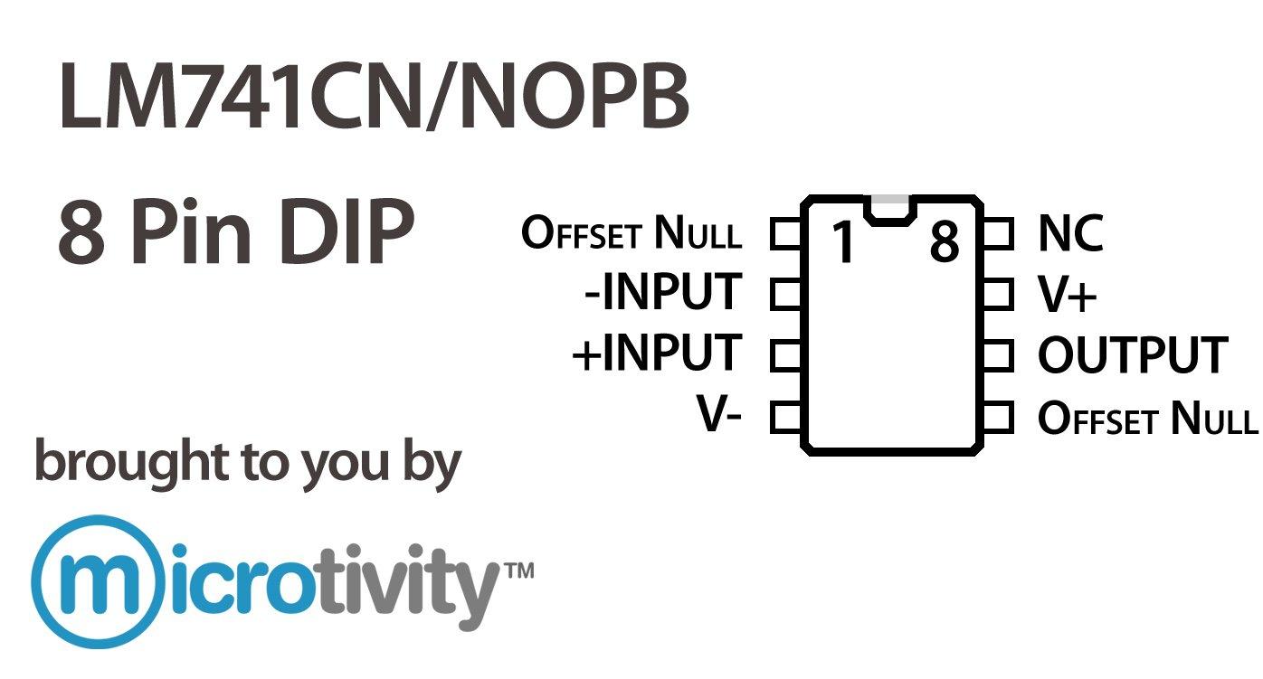 microtivity Pack de 2 LM741 amplificador operacional IC: Amazon.es: Amazon.es
