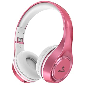 Buy Bluetooth Headphones On Ear Chououkiu Wireless Headset Foldable Hi Fi Stereo Headphone With Mic In Line Volume Wired And Wireless Headphones For Cell Phone Tv Pc Rose Gold Online At Low Prices In India