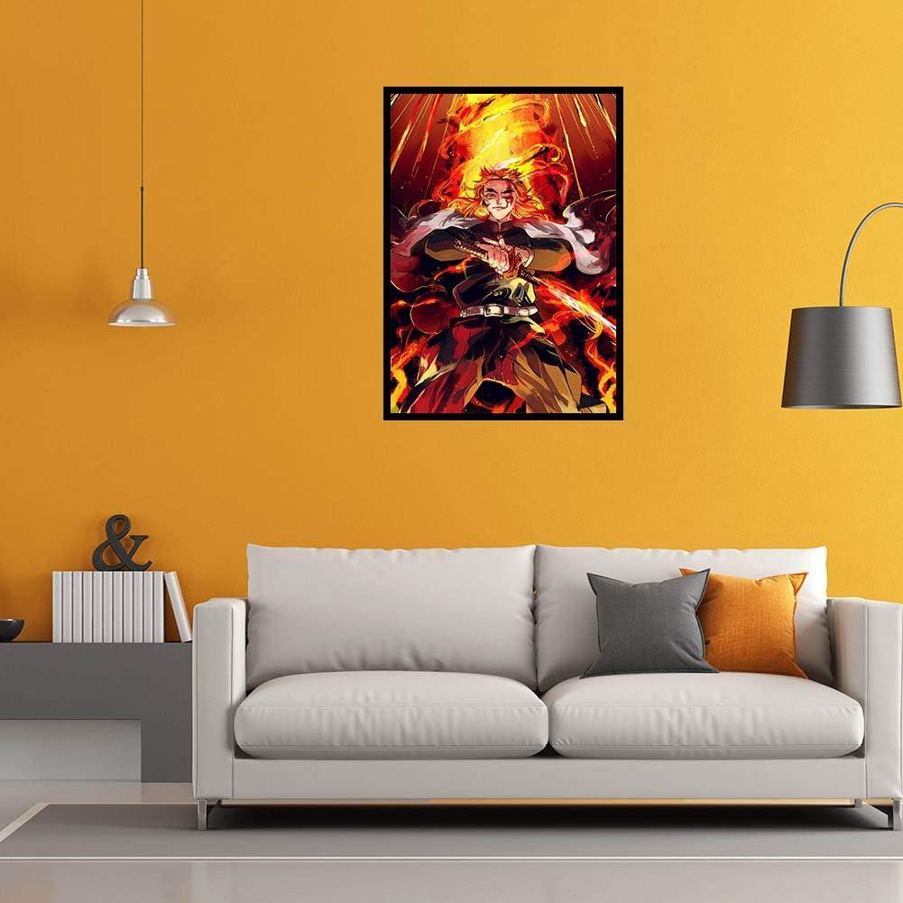 Anime Rollbild//Kakemono Wall Scroll Dekorative Wandbild Stoff Poster H/ängendes Plakat lunanana Demon Slayer Kimetsu no Yaiba Poster 42 29CM,Style 2