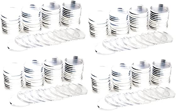 50-pack Brybelly Clear Acrylic Poker Chip Spacers