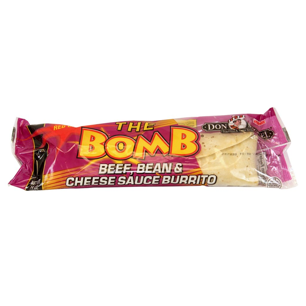 Don Miguel, The Bomb, Red Chili/Cheese/Beef/Bean Burrito, 14 oz., (12 count)