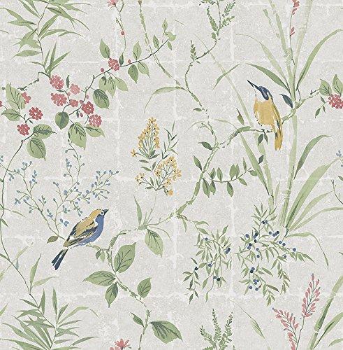Empress Bamboo - Beacon House 2669-21703 Imperial Garden Chinoiserie Wallpaper, Grey