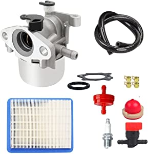 MDAIRC Carburetor Tune-up kit with Air Fuel Filter Line Shutoff Valve for Briggs& Stratton 794304 796707 799866 790845 799871 Craftsman Toro