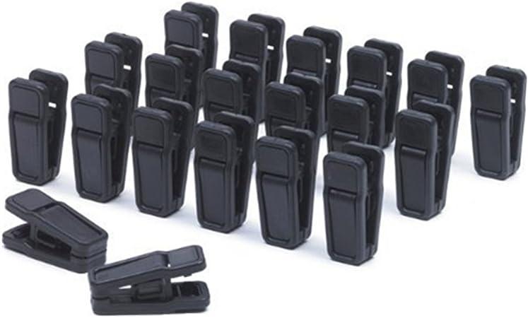 20/pcs pinzas de la ropa Mini pinzas con Captelec Tendedero de pl/ástico Clips Fantas/ía multifuncional negro