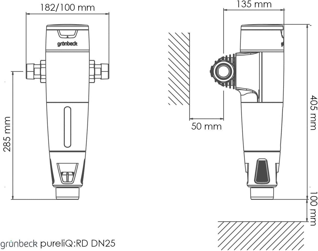 Grünbeck Rückspülfilter pureliQ:RD25 mit Druckminderer DN25