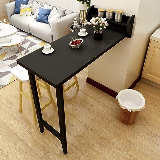 Mesa de barra plegable negra Mesa de estar doméstica Gabinete de ...