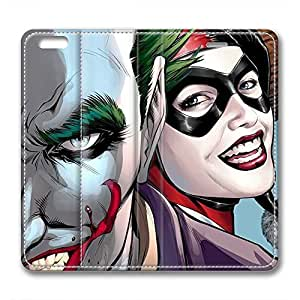 iCustomonline Leather Case for iPhone 6, Joker and Harley Quinn Ultimate Protection Leather Case for iPhone 6