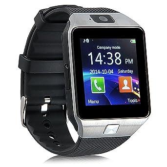 Bluetooth Montre Connectée pour Android,Qimaoo DZ09 Écran Tactile Smartwatch avec Slot de SIM SD