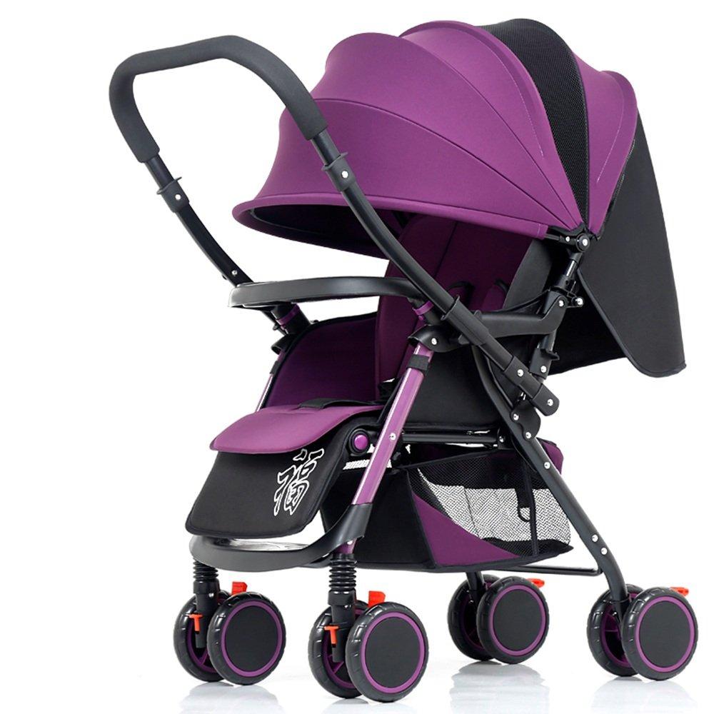 HAIZHEN マウンテンバイク 2. Nunca deje al niño desatendido mientras está en la carriola. Asegúrese de no dejar que el bebé se arrastre fuera de la barra o se pare en la carriola. 新生児 B07C88RQTB パープル ぱ゜ぷる パープル ぱ゜ぷる