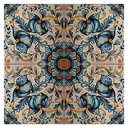 Amazon Handpainted Italian Ceramic 236 Inch Wall Tile Mural