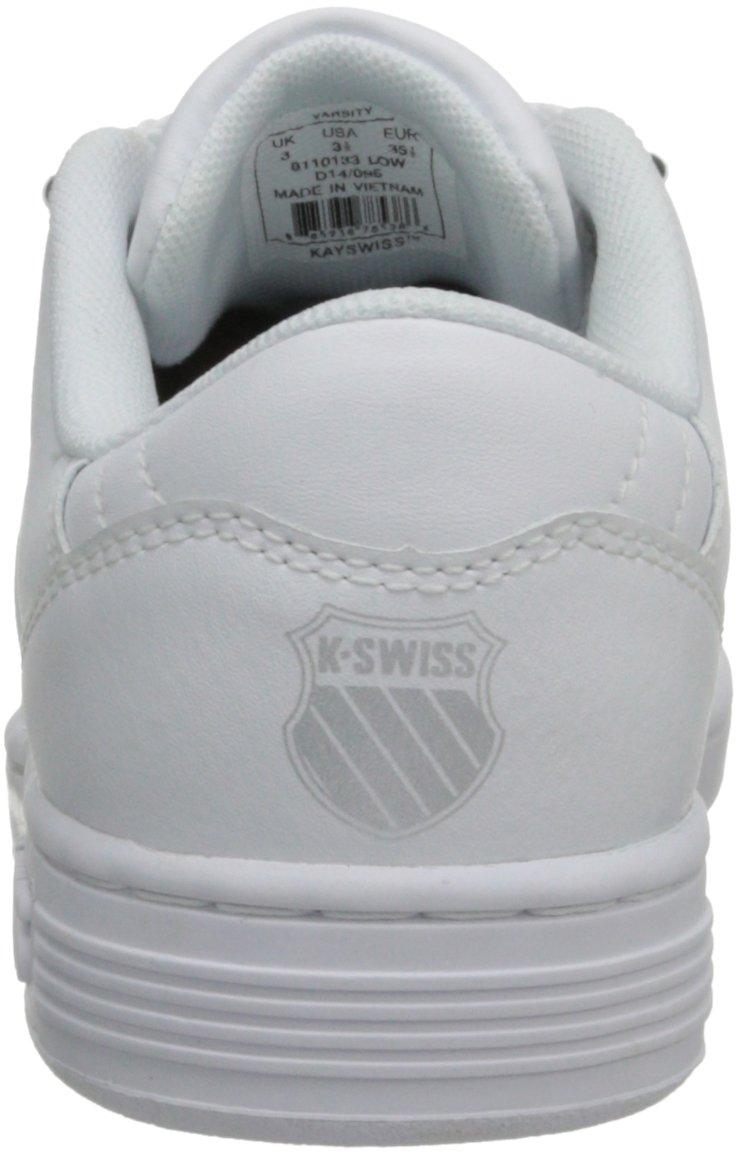 K-Swiss 8110 Lozan Sneaker (Big Kid),White/White/Silver,3.5 M US Big Kid by K-Swiss (Image #2)