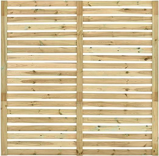 Estink Panel de Valla de Jardín Madera de Pino Impregnada, Panel de Valla Cuadrado Barrera Decorativa para Jardín, 180 x 180 cm: Amazon.es: Hogar