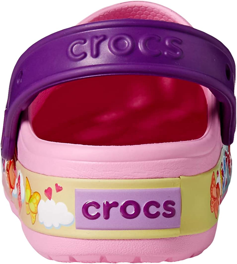 11 M US Little Kid Crocs Kids Fun Lab Butterfly Band Light-Up Clog Carnation