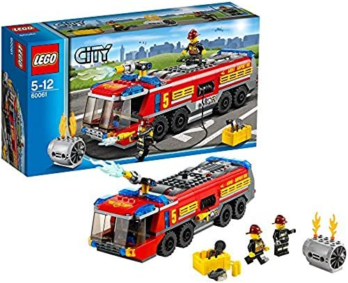 LEGO CITY Airport Fire Truck with Two Minifigures and Accessories | 60061