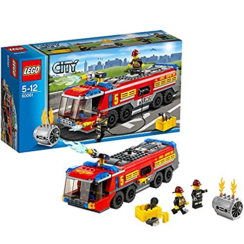 LEGO® CITY® Airport Fire Truck with Two Minifigures and Accessories | 60061