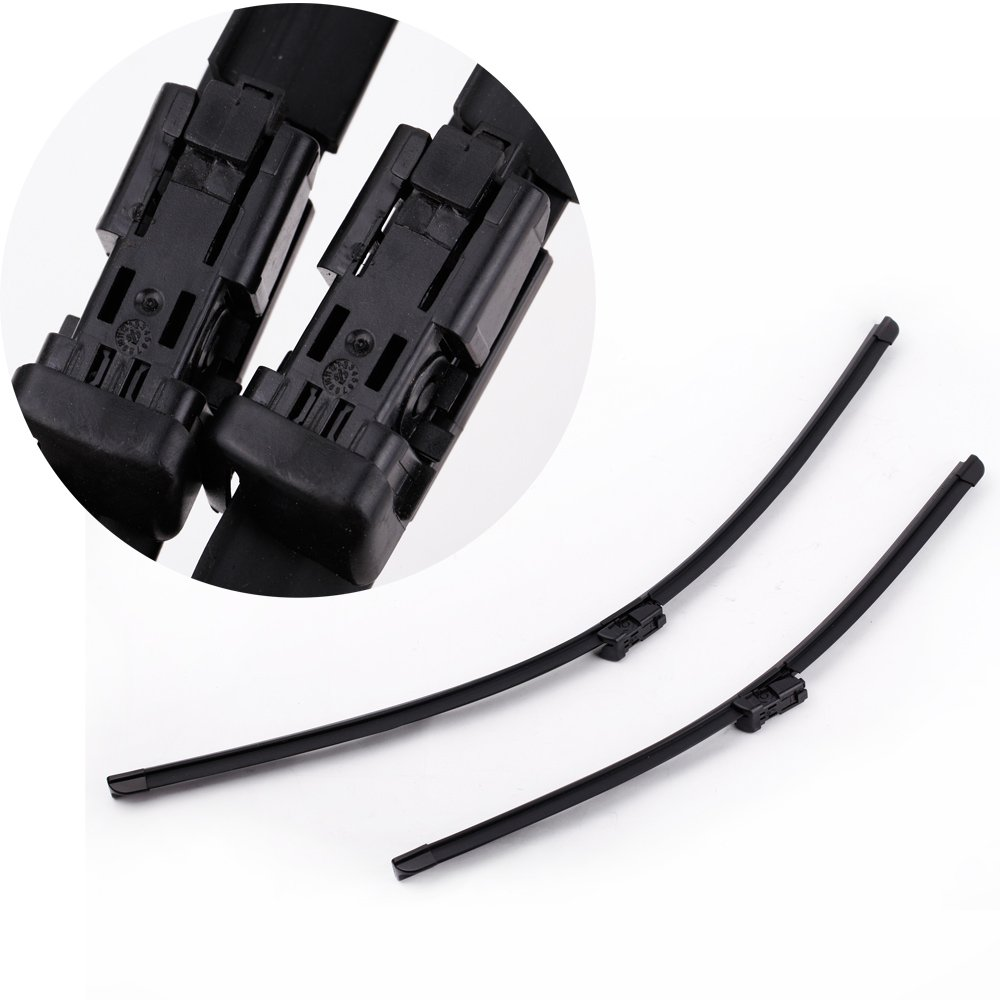 Docooler/® 2PCS Windshield Wiper Blade Bracketless Rubber Arm Blade for VOLVO C30 V50 S80 XC70 26/&20