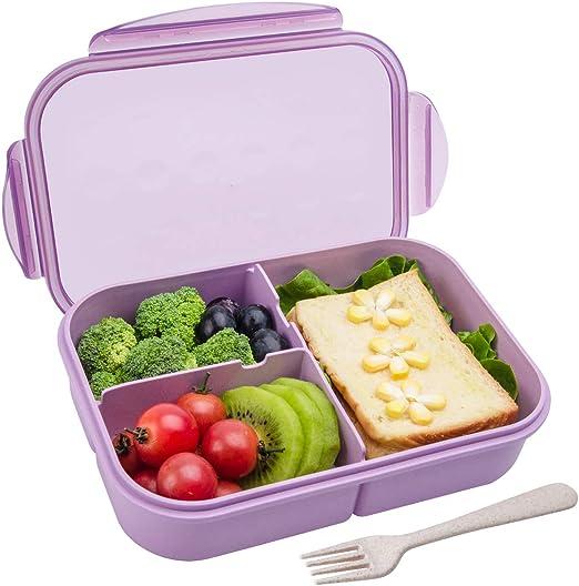 Cartoon Owl Lunch Box Food  Storage Container Portable Bento Box Purple L/&6