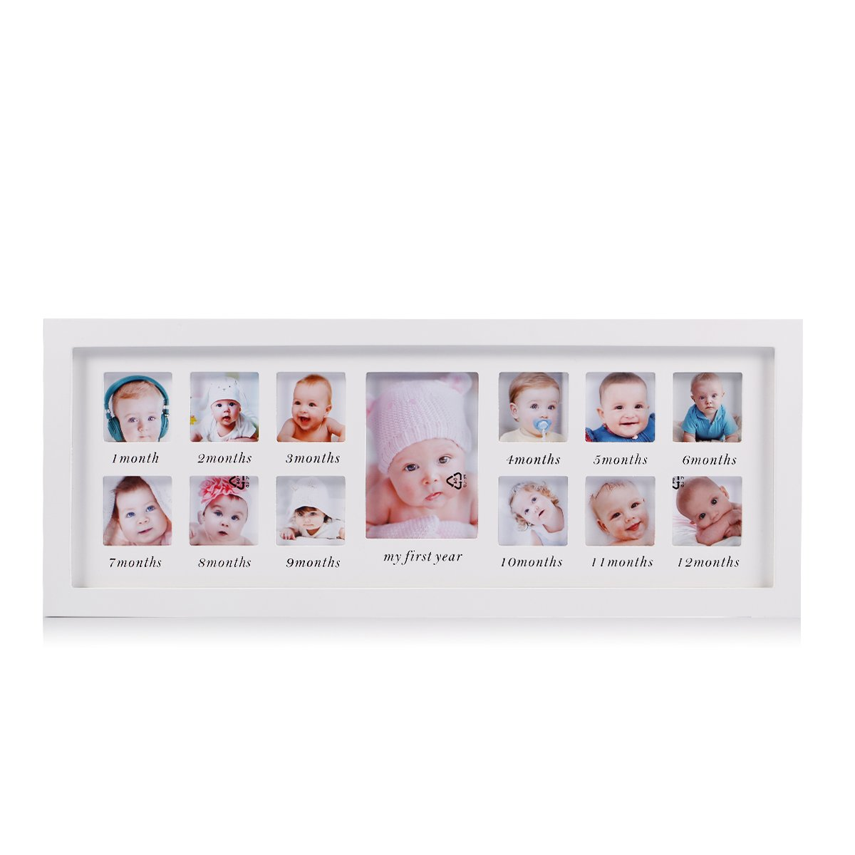 Amazon.com : Feibi My First Year Baby Photo Frame, Baby Keepsake ...
