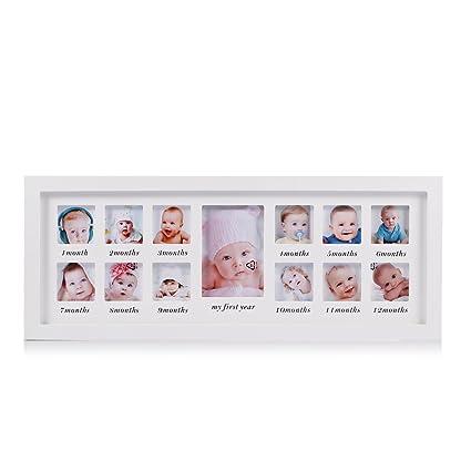 Mi primer año bebé marco de fotos bebé recién nacido recuerdo marco ...