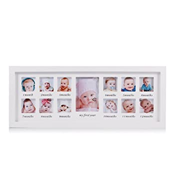 Amazon.com: My First Year Baby Photo Frame Newborn Baby Keepsake ...
