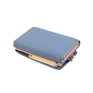 Women Short Small Money Wallet Card Holder PU Leather Handbag Folding Coin Purse