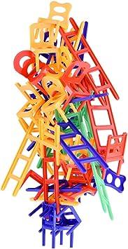 WEofferwhatYOUwant Set Juegos De Mesa Sillas Apilables y Escaleras . 6 Años Juguetes Educativos . Juego De Estrategia para Apilamiento Familiar . Stacking Competitor: Amazon.es: Juguetes y juegos