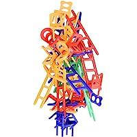 WEofferwhatYOUwant Set Juegos Construcción Mesa Sillas y Escaleras . Regalo 6 Años Juguetes Educativos . Stacking Competitor . Jenga Rompecabezas . Juego De Estrategia para Apilamiento Familiar