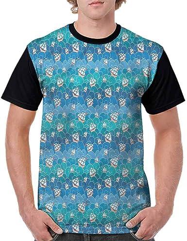 Trend t-Shirt,Vintage Nautical Sea Fashion Personality Customization