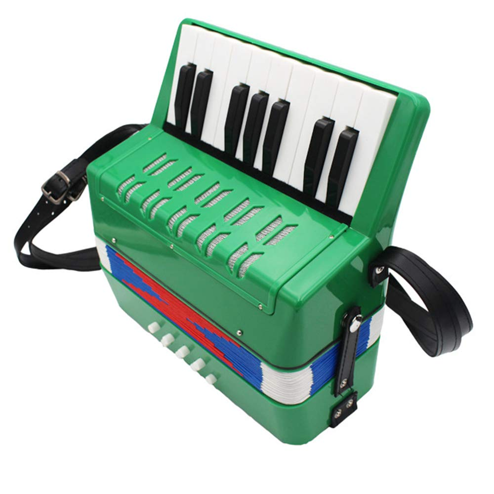 TECHLINK Childern Accordion 17 Keys 8 Bass Musical Toy Portable Accordions Promotes Education Musical Instrument Children's Gift