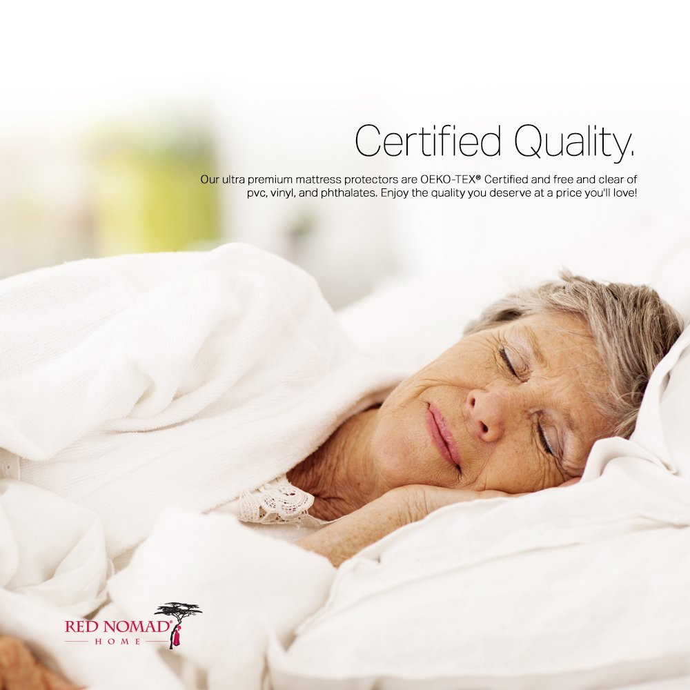 Amazon Com Red Nomad Bamboo Hypoallergenic Mattress Protector By