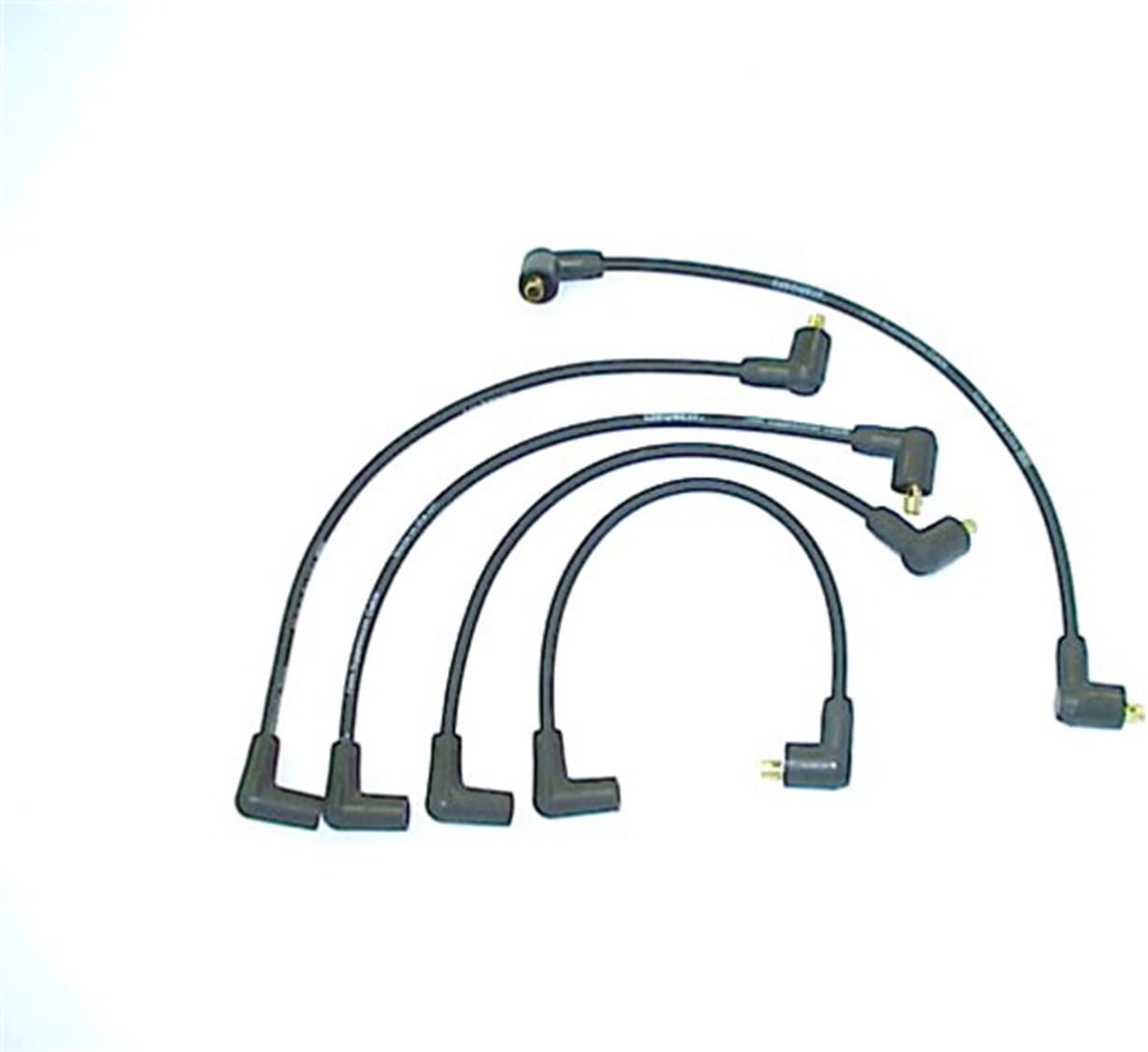 Accel 104018 ProConnect OEM Replacement 90 Degree Angle Boot Black Spark Plug Wires 5pc Set
