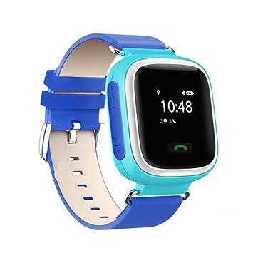 SmartWatch para niños Q60, con localizador, compatible con GPS y redes GPRS - Color azul