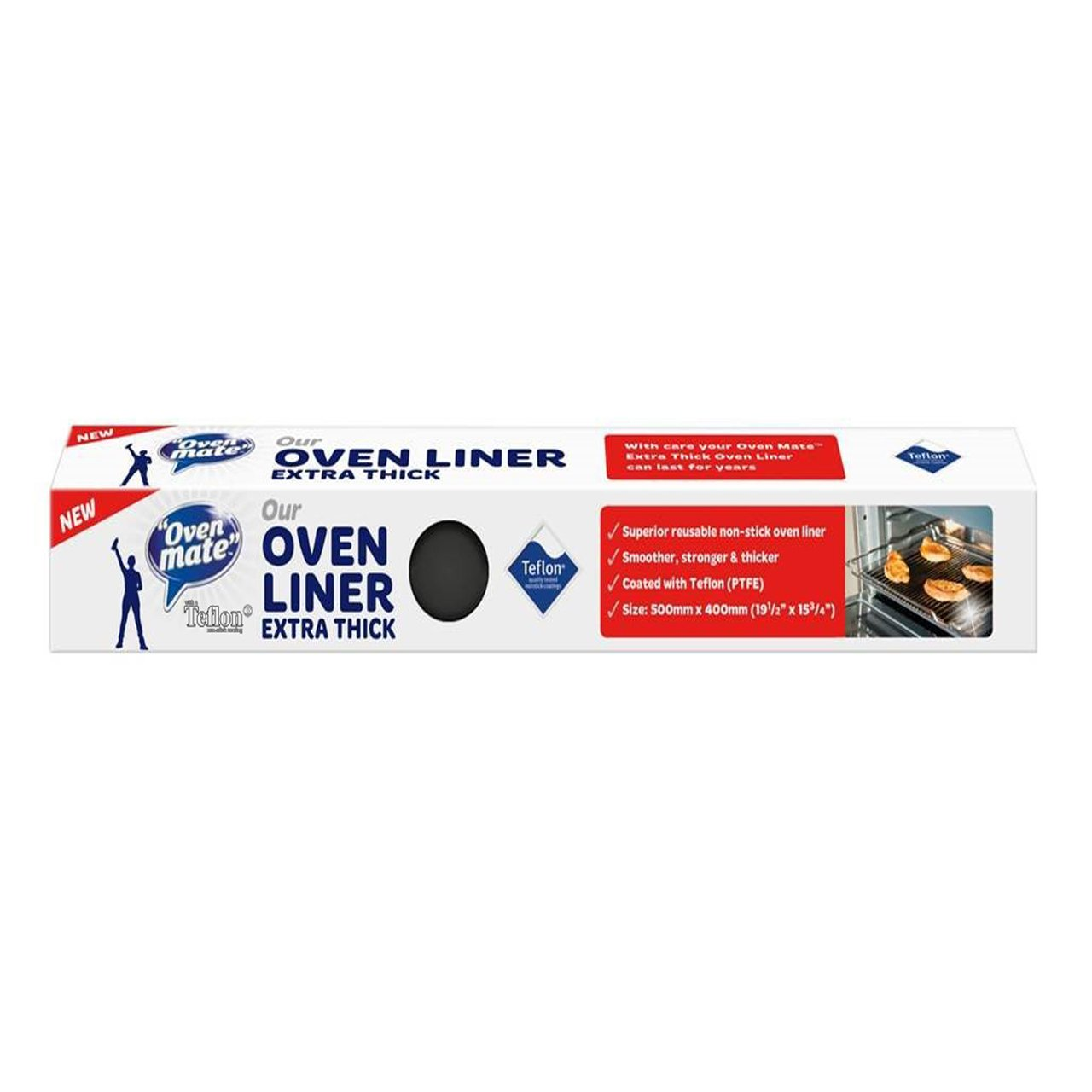 Oven Mate Extra-Thick Teflon Oven Liner, 500 x 400 mm, Black ICB NV OM-10108-RT
