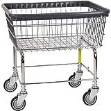 R&B Wire 96B Light Duty Rolling Wire Laundry Cart, 2.5 Bushel, Chrome