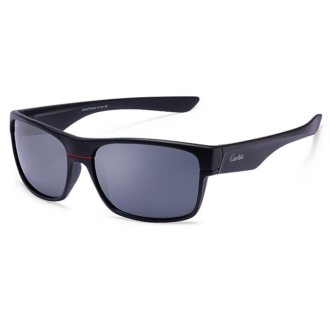 d3deb98af9 Carfia Polarizadas de los Hombres Gafas de sol para la Conducción Deportiva  Viaje,Cristales Polarizados