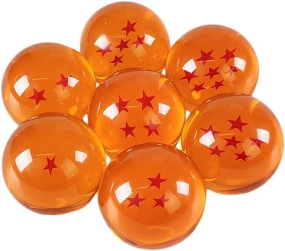 Dragon Ball Z Son Goku Resin Crystal Ball Cosplay Prop 3 Stars 7.6cm Gift Box