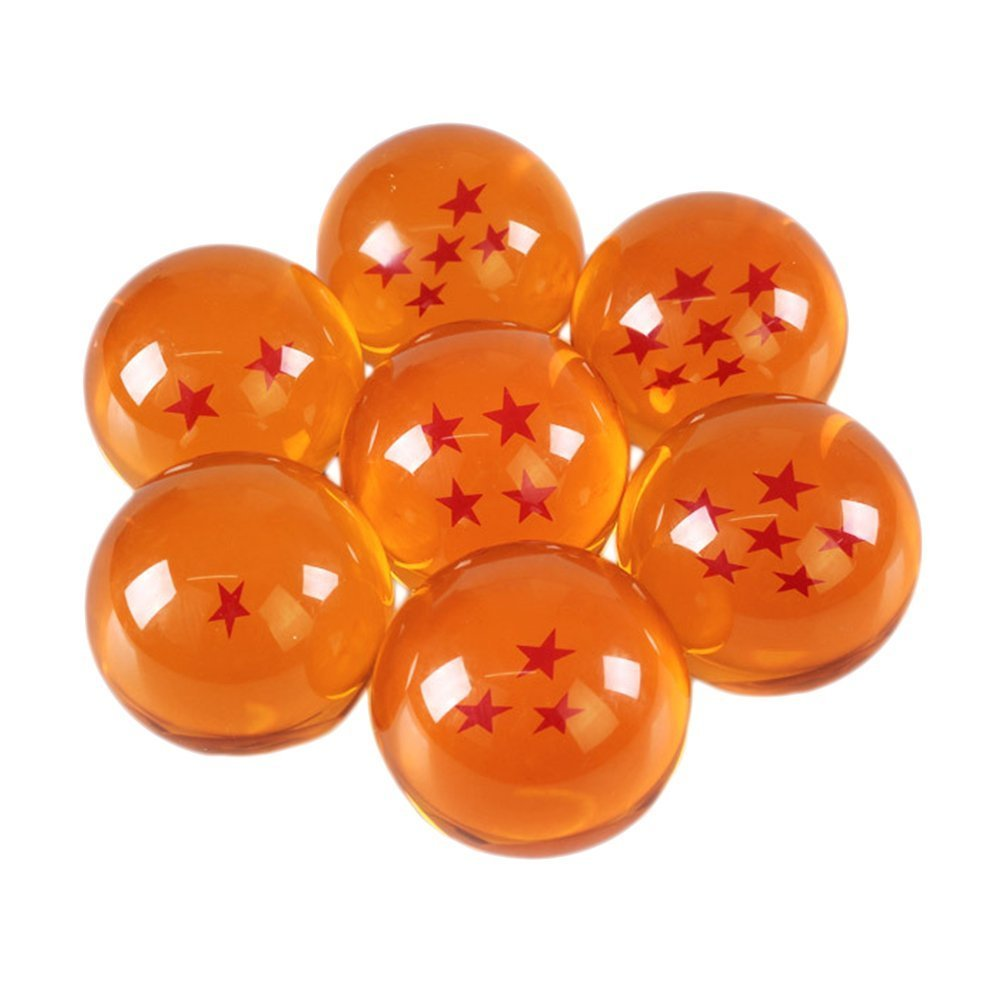 CXU Collectible Large Crystal Acrylic Glass 7 Stars Balls, 7 Pcs with Gift Box, 76MM (3 in) in Diameter