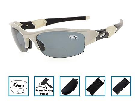Gafas de sol de lectura bifocales de medio borde Lectores de sol teñido Envoltura de gafas