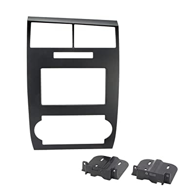 SCOSCHE CR1295DDB Double DIN Car Stereo Dash Installation Kit Compatible with 2005 to 2007 Dodge Charger or Magnum Vehicles: Car Electronics