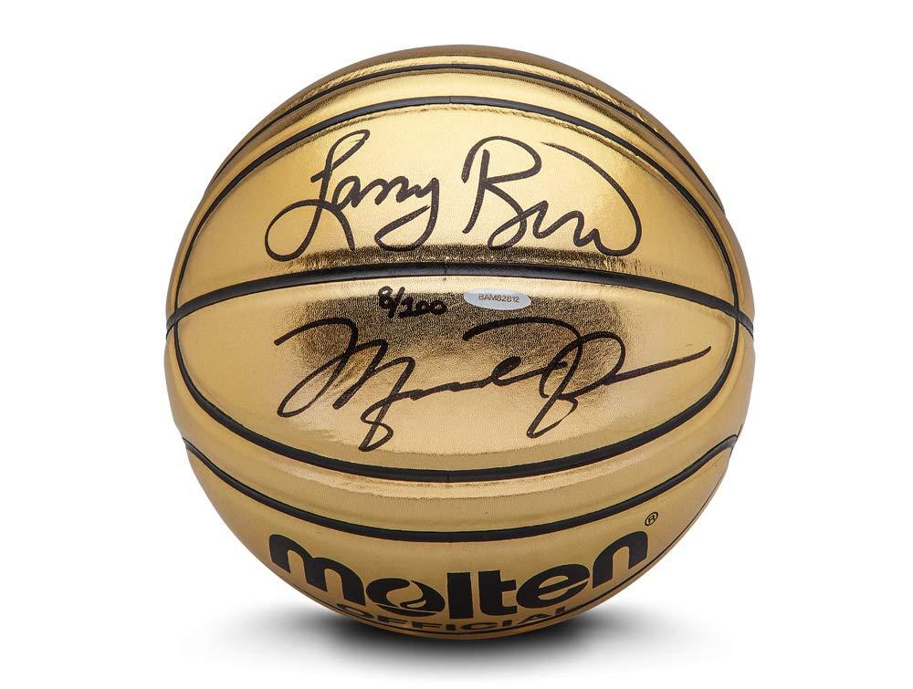 Upper Deck Michael Jordan/Larry Bird Molten Golden Baloncesto ...
