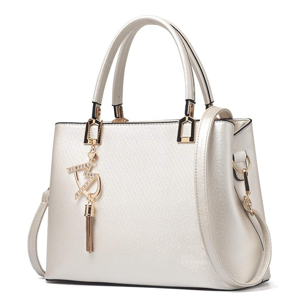 TRDyj Damen koreanische Version der Handtasche Mode Big Bag Damen umhängetasche umhängetasche weibliche Brieftasche (Farbe   Weiß) B07PJG361J Umhngetaschen Erste Qualität