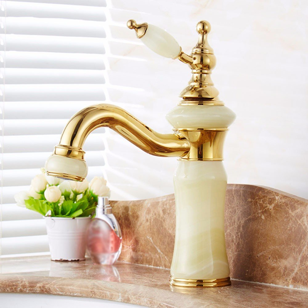 20 LHbox Basin Mixer Tap Bathroom Sink Faucet European style, copper basin, hot and cold, washing your face, jade, Single Hole, sink Faucet 14