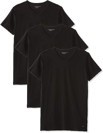 Tommy Hilfiger 3-Pack Premium Crew-neck Men/'s T-Shirts Black