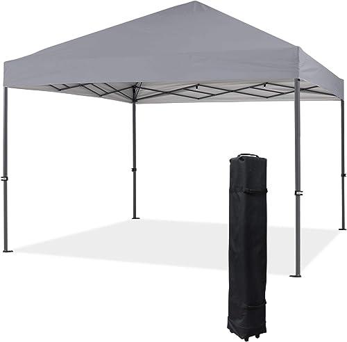 COOSHADE Heavy Duty Pop Up Canopy Tent 12x12Ft Grey