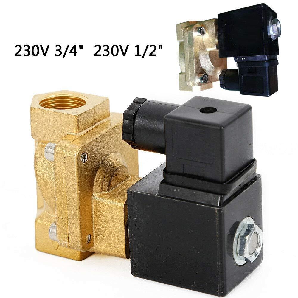 electrov/álvula de alta presi/ón electrov/álvula 1//2 DiLiBee Electrov/álvula lat/ón 2//2 v/ías 230V normalmente cerrado aire comprimido