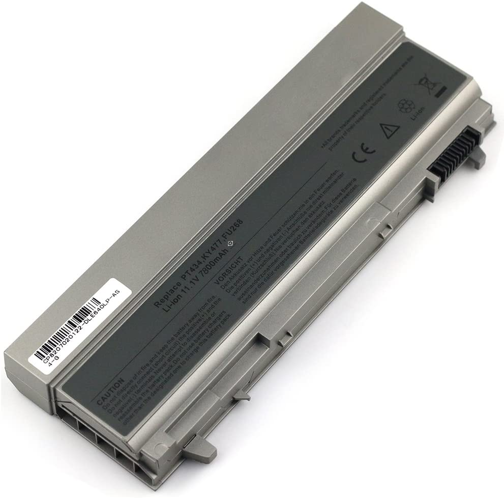 9 Cell 7800mah Laptop Battery For Dell Latitude E6400 E6410 E6500 E6510 Precision M2400 M4400 M4500 M6500 P/N's: 4M529 KY265 PT434 312-0749