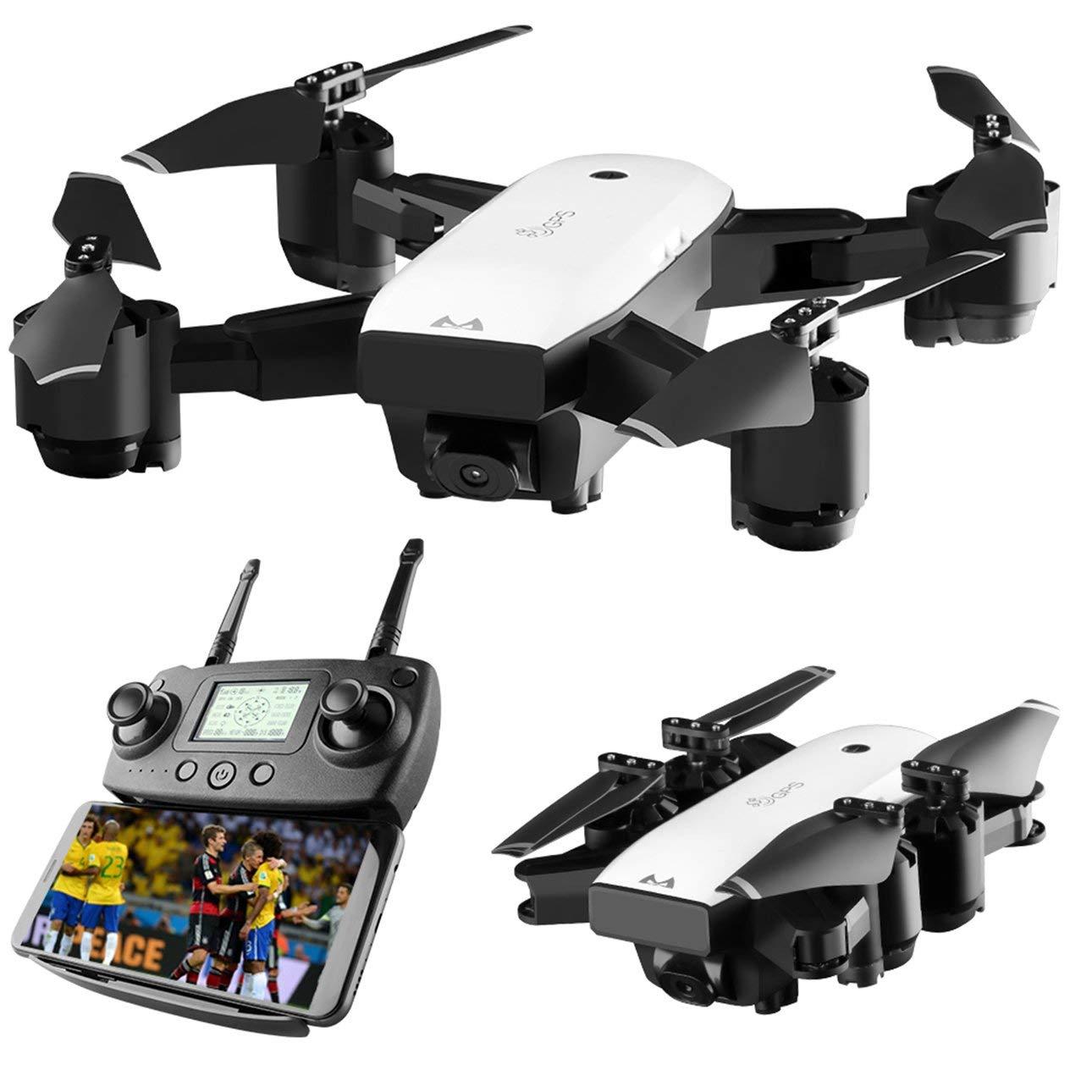 Ballylelly SMRC S20 6 Assi Mini giroscopio GPS Gyro con Telecamera grandangolare da 110 Gradi 2.4G Altitude Hold RC Quadcopter Modello RC Portatile