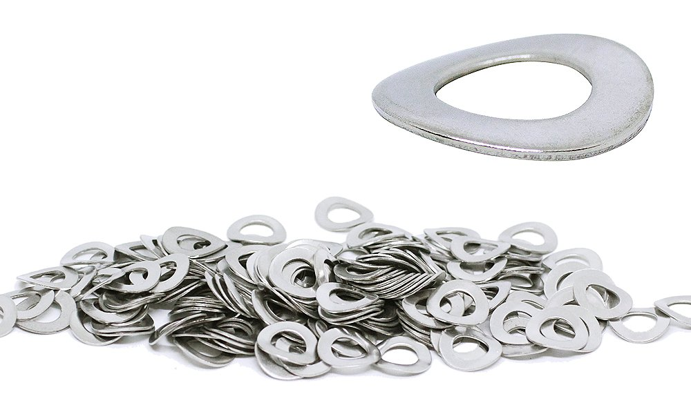 (150pcs) M6, 6mm Wave Stainless Steel Washer - DIN 137B, 12mm Large Outer Diameter Shiny by BelMetric WW6BSS